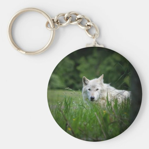Lobo solitario llavero personalizado