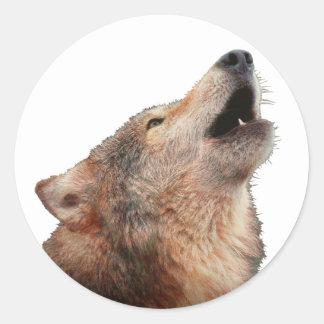 Lobo solitario - Multi-Productos Pegatina Redonda