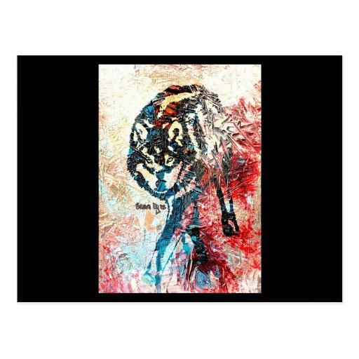 Lobo solitario - una original de Brown observa Tarjetas Postales
