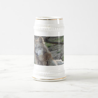 Lobo Stien de los lobos Jarra De Cerveza