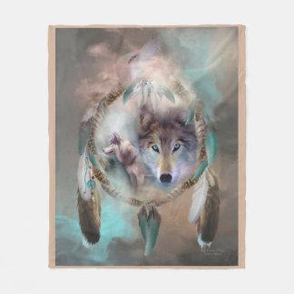 Lobo - sueños de la manta del paño grueso y suave manta de forro polar