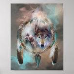 Lobo - sueños del poster/de la impresión del arte