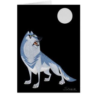 lobo tarjeta de felicitación