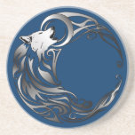 Lobo tribal - sombreado posavasos diseño