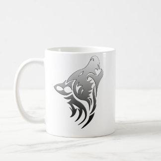 Lobo tribal tazas