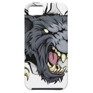 Lobo u hombre lobo que rasga a través iPhone 5 fundas