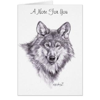 lobo, una nota para usted tarjeta pequeña
