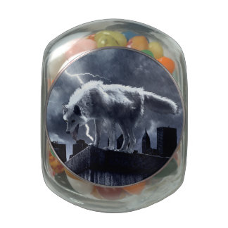 Lobo urbano jarras de cristal jelly bely