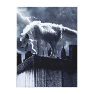 Lobo urbano lona estirada galerías