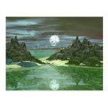 Lobo verde del mundo tarjetas postales