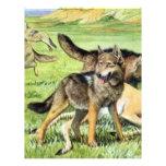 lobo y coyote tarjetas publicitarias