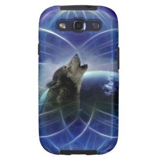 Lobo y el dreamcatcher galaxy s3 cárcasa