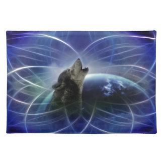 Lobo y el dreamcatcher manteles
