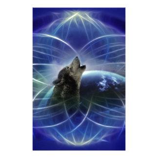 Lobo y el dreamcatcher  papeleria de diseño