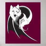 Lobo y impresión del dragón impresiones