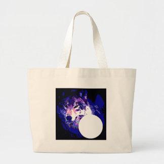 Lobo y luna bolsa tela grande