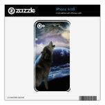 lobo y luna calcomanías para el iPhone 4S