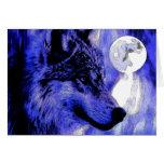 Lobo y luna felicitaciones