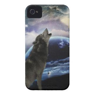 lobo y luna iPhone 4 carcasas