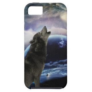 lobo y luna funda para iPhone 5 tough