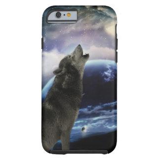 lobo y luna funda para iPhone 6 tough
