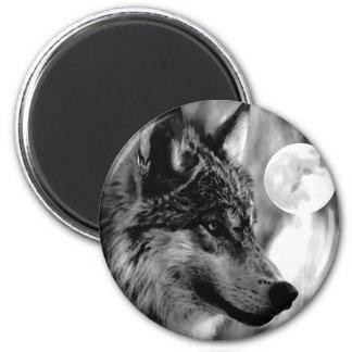 Lobo y luna imán
