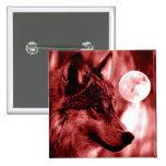 Lobo y luna pins