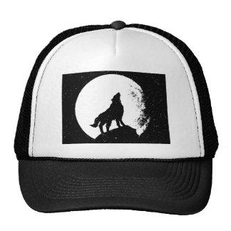 Lobo y luna Silhoutte Gorro De Camionero