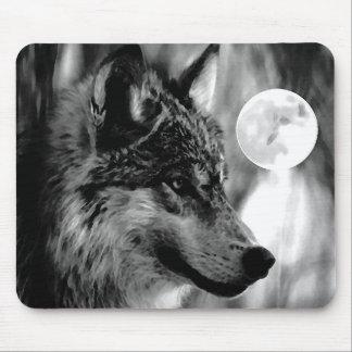 Lobo y luna tapetes de raton