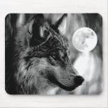 Lobo y luna tapetes de ratones