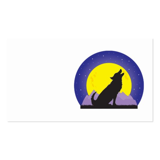 Lobo y luna tarjetas de visita