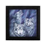 Lobos azules de la aurora caja de regalo