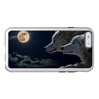 Lobos blancos en la Luna Llena Funda Para iPhone 6 Plus Incipio Feather Shine