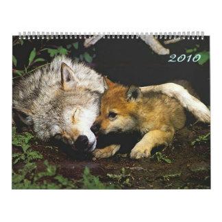 Lobos con el calendario de los perritos 2010