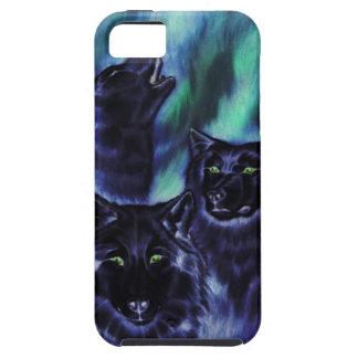 Lobos de la aurora sobrenaturales iPhone 5 Case-Mate cobertura