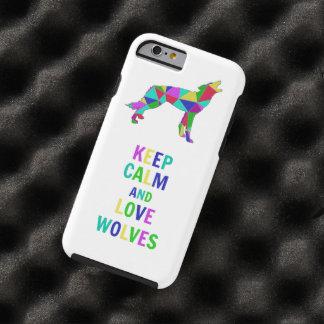Lobos del amor funda resistente iPhone 6