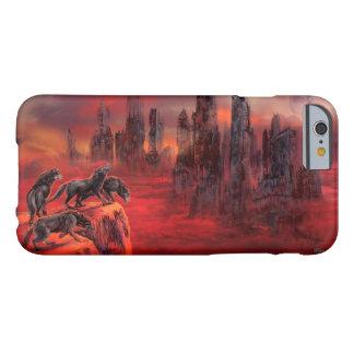 Lobos del futuro más allá funda de iPhone 6 barely there