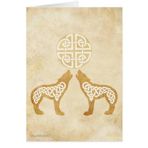 Lobos del grito tarjeta de felicitación