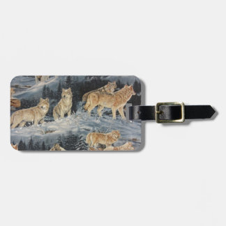 Lobos del invierno etiquetas bolsas