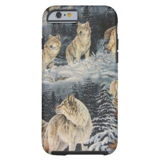 Lobos del invierno funda de iPhone 6 tough