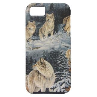 Lobos del invierno iPhone 5 funda