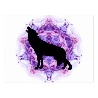 Lobos del lobo del grito tarjeta postal