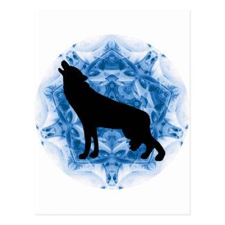 Lobos del lobo del grito tarjetas postales
