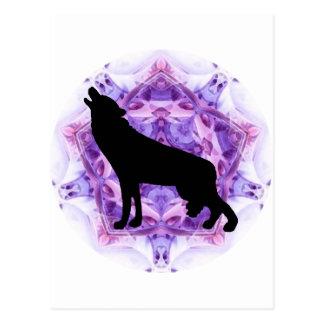 Lobos del lobo del grito postales