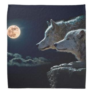 Lobos del lobo que gritan en la Luna Llena Bandana