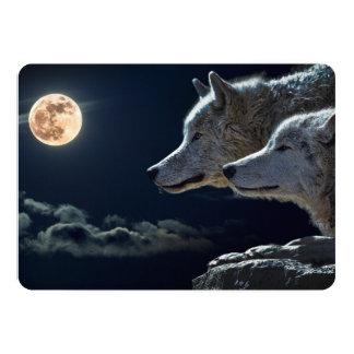 """Lobos del lobo que gritan en la Luna Llena en la Invitación 5"""" X 7"""""""