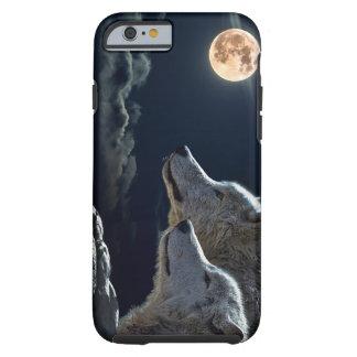 Lobos del lobo que gritan en la Luna Llena Funda Resistente iPhone 6