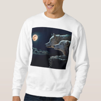 Lobos del lobo que gritan en la Luna Llena Sudadera