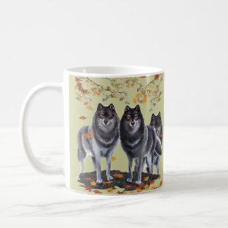 Lobos en caída taza