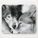 Lobos en el amor Mousepad Tapete De Ratones